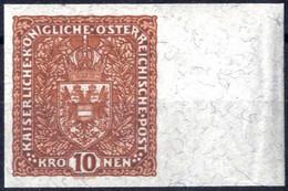 ** 1918, Flugpost Ohne Flugpostaufdruck, 10 K. Rötlichbraun, Ungezähnt, Rechts 23 Mm Rand, Postfrisches Erlesenes Pracht - Unclassified