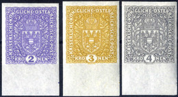 ** 1918, Flugpostserie Ohne Flugpostaufdruck, Komplette Ungezähnte Serie Vom Unterrand, Postfrische Erlesene Prachtstück - Unclassified
