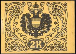 ** 1908, Kaiserkrone Und Kaiser Franz Joseph, Markenheftchen 2 Kronen, Umschlag Aus Dunkelsämisch Gefärbtem Karton, Post - Unclassified