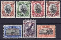 TONGA 1923, SG# 64-70, CV £160, Ships, Bird, MH - Tonga (...-1970)