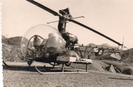 Guerre D'Algérie Photo Originale 6x9 Un Hélicoptère A Voir - Aviation