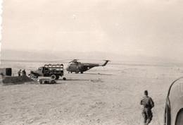 Guerre D'Algérie Photo Originale 7x10 Un Hélicoptère A Voir - Aviation