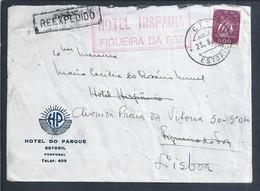 Carta Do Hotel Parque Estoril Reexpedida Do Hotel Hispania Da Figueira Da Foz Para Lisboa. Não Carece De Nova Franquia. - Lettere