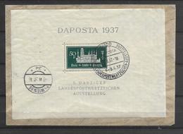 1937 USED Danzig Michel Block 1 On Cover - Dantzig
