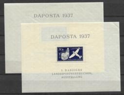 1937 MH Danzig Michel Block 1//2 - Dantzig