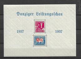 1937 MNH Danzig Michel Block 3 - Dantzig