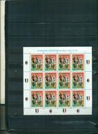 ITALIE EQUIPE DE FOOTBALL MILAN CHAMPION D'ITALIE 1999 1 MINI-FEUILLE DE 12 TIMBRES NEUF  A PARTIR DE 2.50 EUROS - Hojas Bloque