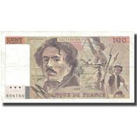France, 100 Francs, Delacroix, Undated (1991), TB+, Fayette:69bis.4a, KM:154f - 100 F 1978-1995 ''Delacroix''