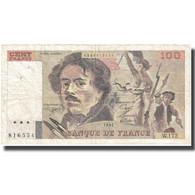 France, 100 Francs, Delacroix, 1991, TB+, Fayette:69.b.3.a.4, KM:154e - 100 F 1978-1995 ''Delacroix''