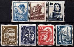Romania 1955 1960, Scott 1025 1026 1028A  1350 1352 1354 1368, MNH, Definitives - Ungebraucht