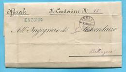 Faltbrief Von Menzonio Nach Bellinzona 1884 - ...-1845 Prephilately