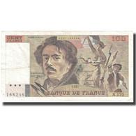 France, 100 Francs, Delacroix, 1991, TB+, Fayette:69.b.3.a.1.a, KM:154e - 100 F 1978-1995 ''Delacroix''
