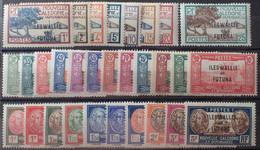 R2452/1647 - 1930/1938 - COLONIES FR. - WALLIS Et FUTUNA - SERIE COMPLETE Sauf N°64 Et 65 - N°43 à 63 NEUFS* - Unused Stamps