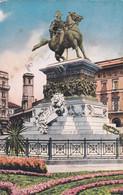 MILANO - CARTOLINA - MONUMENTO A VITTORIO EMANUELE II. - VIAGGIATA DA  PER BUSSETO (PARMA) - Milano (Milan)