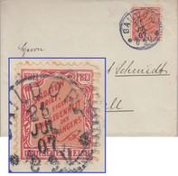 """DR - """"Soldatenbrief Eigene Angelegenheit..."""" Vignette Brief Gaildorf - Hall 1907 - Cartas"""
