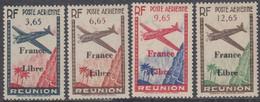 Réunion 1907-1947 - Poste Aérienne N° 24 à 27 (YT) N° 24 à 27 (AM) Neufs *. - Airmail