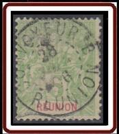 Réunion 1885-1901 - Convoyeur B Sur N° 46 (YT) N° 46 (AM). Oblitération De 1906. - Usati