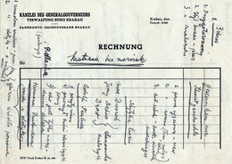 WW2 Kanzlei Des Generalgouvernement Verwaltung Burg Krakau German Official Print Filled With Student's Notes 1940 - 1939-45