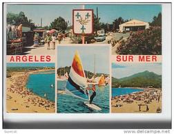 REF22.823  PYRENEES ORIENTALES. ARGELES-SUR-MER.EN 5 VUES. CAMPING ROUSSILLONNAIS ET LA MER. - Argeles Sur Mer