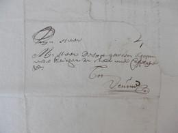 LAC (briefomslag Met Inhoud). Van Dekeerle Van GENT 6-10-1728 Naar VEURNE, Schepen En Keurheer Despot, 4 Solz Port - Documenti Storici