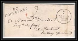 1942 Haute-Marne Marque Postale Doulevant 37x9 Indice 8 Pour Wassy 7/3/1828 LSC Lettre Cover France - 1801-1848: Précurseurs XIX