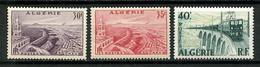 ALGERIE 1956 N° 339/340 ** Neufs MNH Superbes C 7,20 € Vues D' Oran Port Trains Ligne électrifiée Transports - Nuevos