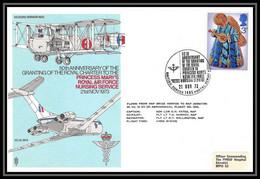 0025 Lettre Grande Bretagne Great Britain Aviation (Airmail Cover Luftpost) Royal Air Force NURSING SERVI - Postmark Collection