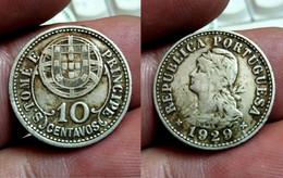 PORTUGAL ST. THOMAS And PRINCE 10 CENTAVOS 1929 Km# 2 (CX#01-232) - Sao Tome And Principe
