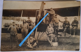 1917 1918 Bréguet XIV Bombardement équipe Mécaniciens Tenues Mascotte Phare D'aile  Tranché Ww1 Poilus 14-18 Photo - War, Military