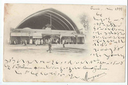 TUNIS : Gare De Chemin De Fer à La Goulette Marsa (carte Non Légendée) - Précurseur Voyagée 1899 - Tunisia