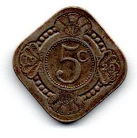 Pays Bas -  5 Cents 1929 TB - 5 Cent