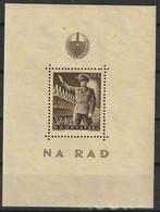 Croatie 1944 N° 164 NMH N ° 163 En Couleur Différente En Mini-feuille De 74 X 100 Mm (H7) - Kroatien