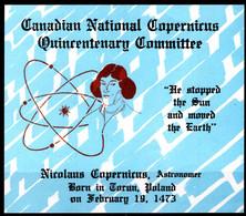 CANADA POLISH POLAND SOUVENIR CARD -  PHILATELY SOCIETY 1973 - COPERNICUS KOPERNIKA - ASTRONOMY - 3 - Astrologia