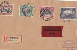 Herbesthal 31-7-1920 - Letter Sent To Verviers By Registered And Exprès Mail - Covers & Documents