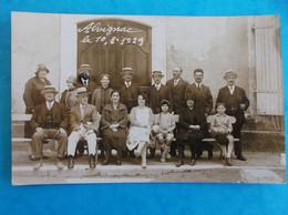 46 : ALVIGNAC : CARTE PHOTO De GROUPE , Prise Le 10/08/1929 , QUI VA LES RECONNAITRE ?? , C.P.A. , Carte En Bon état - Otros Municipios