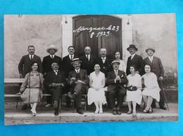 46 : ALVIGNAC : CARTE PHOTO De GROUPE , Prise Le 23/08/1929 , QUI VA LES RECONNAITRE ?? , C.P.A. , Carte En Bon état - Otros Municipios