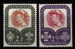 Luxemburg 1957 Baden Powell Centenary  Y.T. 526/527 ** - Nuovi