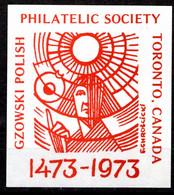 CANADA POLISH POLAND SOUVENIR LABEL -  POLONUS PHILATELY SOCIETY EXHIBITION 1973 - 3 - Esposizioni Filateliche
