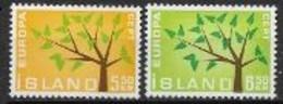 Islande 1962 Neufs ** N° 319/320 Europa - 1962