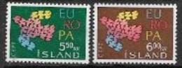 Islande 1961 Neufs ** N° 311/312 Europa - 1961