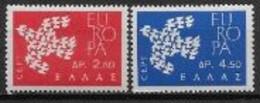 Grèce 1961 Neufs ** N° 753/754 Europa - 1961