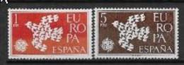 Espagne 1961 Neufs ** N° 1044/1045 Europa - 1961