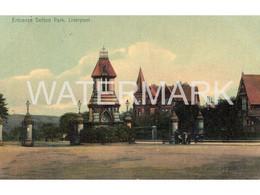 LIVERPOOL ENTRANCE SEFTON PARK OLD COLOUR  POSTCARD  LANCASHIRE - Liverpool