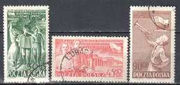 Poland 1952 - Young Communist Pioneers Meeting - Mi 757-59  Used - Used Stamps