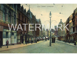 LIVERPOOL LORD STREET OLD COLOUR  POSTCARD  LANCASHIRE - Liverpool