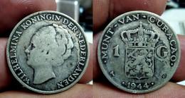 CURACAO - KINGDOM OF NETHERLANDS - 1 GULDEN 1944 D - Km# 45 (CX#01-284) - Curacao