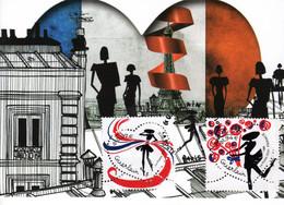 """2020 : """" SAINT VALENTIN / COEURS DE GUERLAIN / AMOUR """" Sur Carte Maximum N° YT 5373 74 CM - 2010-..."""