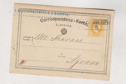 SLOVENIA,Austria 1873 Postal Stationery Leibnitz AMB Train Cancel Postambulance No 8 To Zagreb Croatia Hungary - Slovenia
