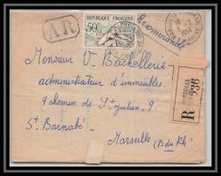 110860 Lettre Recommandé Bouches Du Rhone N°764 Jeux Olympiques (olympic Games) Helsinki 1954 Marseille Saint Barnabé - 1921-1960: Modern Tijdperk
