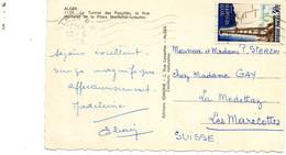 Timbre 30F Hassi-Messaoud (N°1205) Seul Sur Carte Postale Pour La Suisse. 1959 - 1921-1960: Modern Period